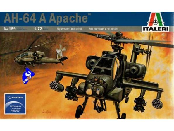 italeri maquette avion 0159 AH-64A Apache 1/72