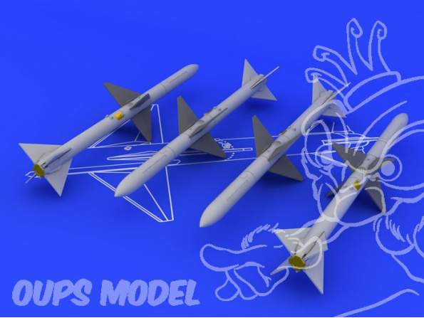 Eduard kit d&39amelioration brassin 648069 AIM-7M Sparrow 1/48