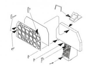 """CMK kit amelioration q32144 F-86F """"SABRE"""" TABLEAU DE BORD 1/32"""