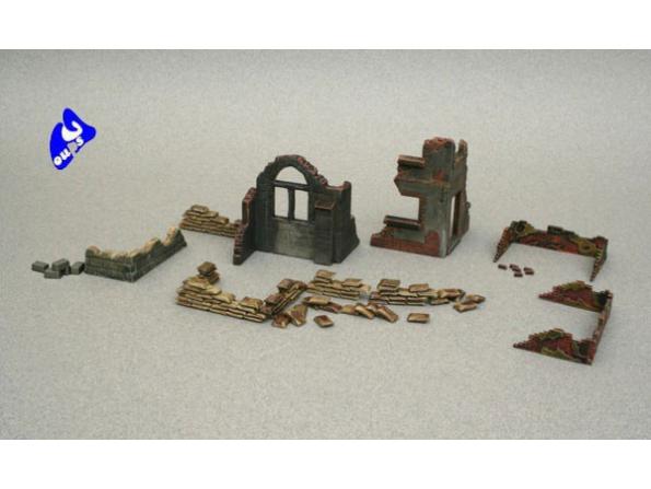 italeri maquette militaire 6087 Accessoires et ruines 1/72