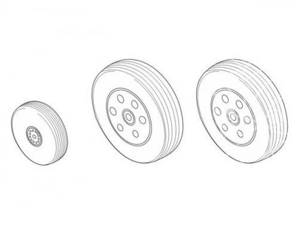 CMK kit amelioration q48142 BAe HAWK 100 series - SET DE ROUES 1/48