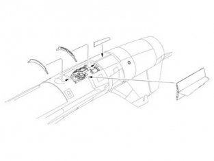 """CMK kit amelioration 5056 SET MOTEUR pour F-104G """"STARFIGHTER"""" 1/32"""