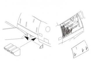 """CMK kit amelioration 5062 F-86F 40 """"SABRE"""" - SET BAIE D'ARMEMENT GAUCHE 1/32"""