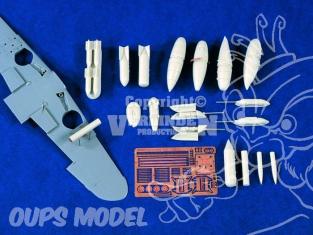 Verlinden maquette avion 1321 Armement Me-109 1/48