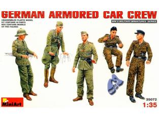 MINI ART maquette militaire 35072 EQUIPAGES BLINDE ALLEMAND 1/35