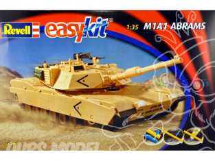 Revell maquette militaire 06490 Easy kit M1A1 Abrams 1/72