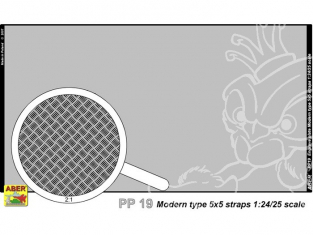 Aber PP19 plaque gravée modern type 5x5 strips 1/24 1/25