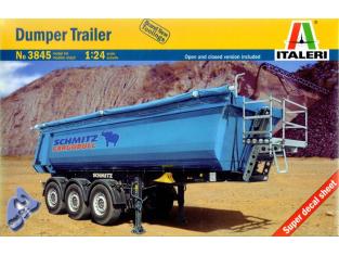 ITALERI maquette camion 3845 Dumper Trailer 1/24