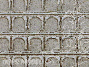 Heki Diorama 7018 Plaques mur quai gare 280x140mm