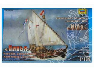 Zvezda maquette bateau 9005 Caravelle Nina 1/72