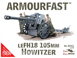 ARMOURFAST maquette militaire 89001 LE FH18 105mm Howitzer 1/72