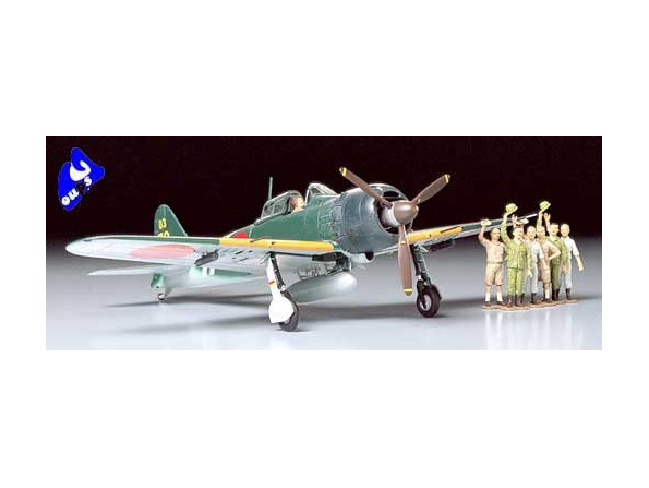 tamiya maquette avion 61027 A6M5C Type 52 Zero Fighter Kit - CO1
