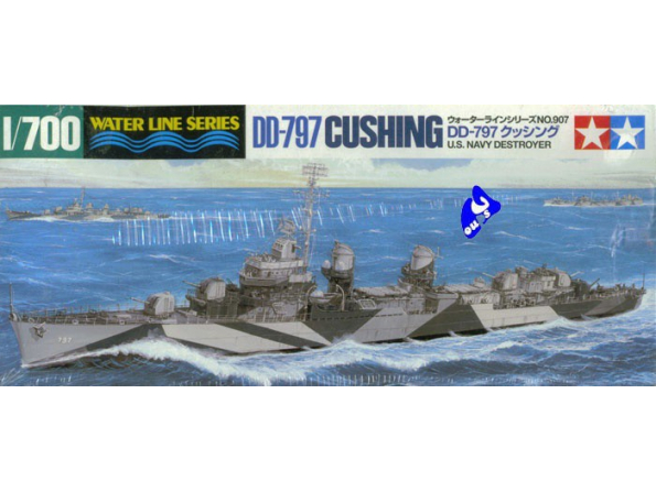 tamiya maquette bateau 31907 Destroyer DD797 Cushing 1/700