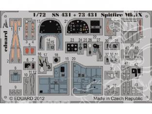 Eduard photodecoupe avion 73431 Spitfire Mk.IX 1/72