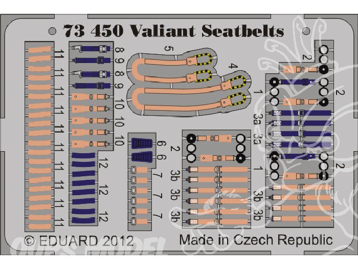 Eduard Edua73450 Valiant Seatbelts 1//72