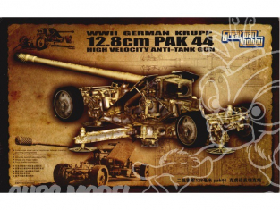 GREAT WALL HOBBY maquette militaire L3526 CANON KRUPP 12.8cm PaK 44 1/35