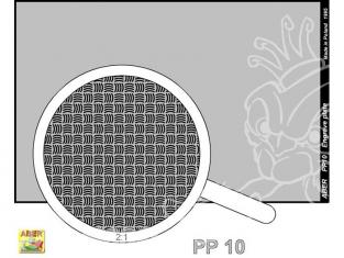Aber PP10 plaque gravée (88 x 57mm) - pattern 10