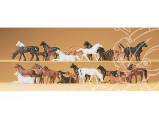 Preiser 14407 chevaux 26 pièces HO