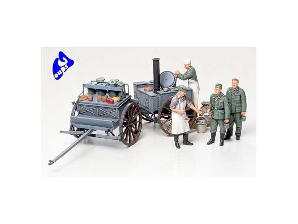 tamiya maquette militaire 35247 cuisine de campagne Allemande 1/