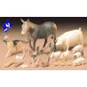 tamiya maquette militaire 35128 animaux de la ferme 1/35