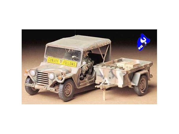tamiya maquette militaire 35130 U.S. Ford Mutt w/M416 Trailer 1/