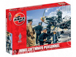 Airfix figurine aviation 0755 Personnel Luftwaffe 1/72