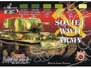 LIFECOLOR peinture CS23 CHARS SOVIETIQUES WWII