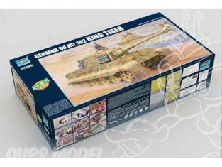TRUMPETER maquette militaire 00910 CHAR LOURD ALLEMAND KÖNIGSTIGER II 1/16
