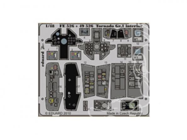 EDUARD photodecoupe avion 49526 Interieur Tornado Gr1 1/48