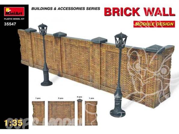 MINI ART maquette militaire 35547 MUR EN BRIQUES 1/35