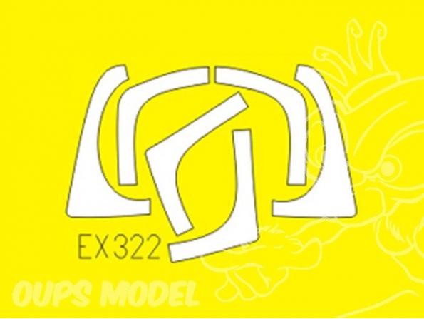 Eduard Express Mask ex322 Ef-2000 Biplace 1/48