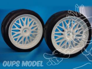 pneus montes sur jante type BBS FG SX411D 60shore