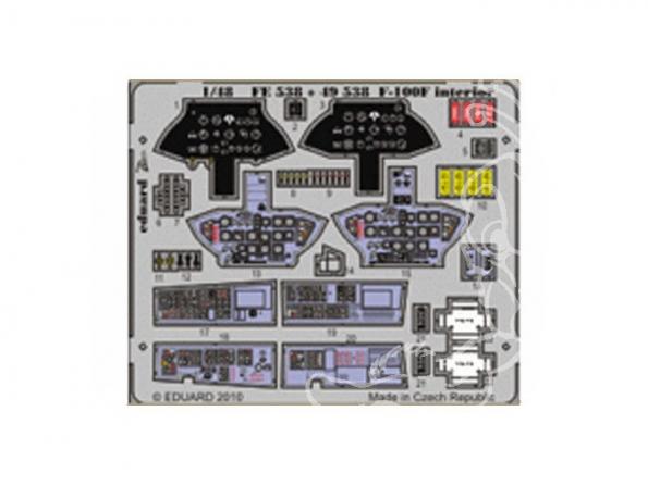 EDUARD photodecoupe avion FE538 Interieur F-100F 1/48