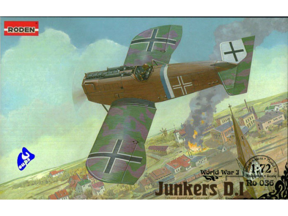 Roden maquettes avion 036 Junkers D.1 Tardif 1/72