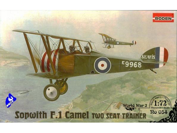 Roden maquettes avion 054 Sopwith TF1 Camel Biplace 1/72