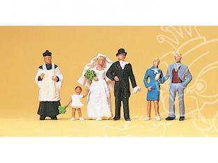 Preiser 10058 Curé mariés et temoins HO