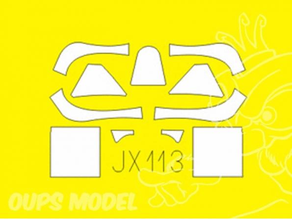 Eduard Express Mask jx113 Spitfire Mk.VIII 1/32
