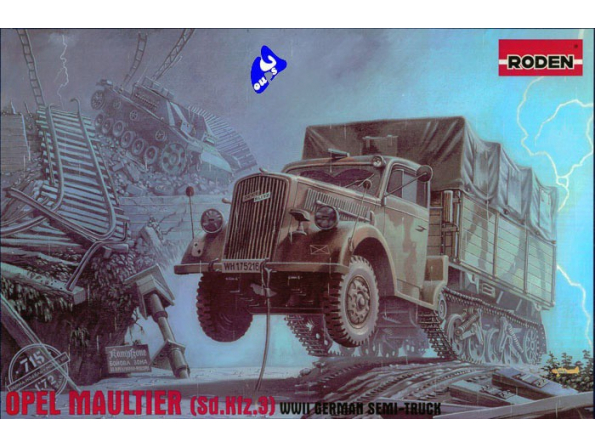 Roden maquettes militaire 715 Opel Maultier 1/72