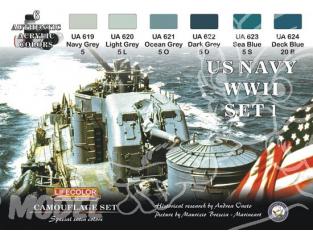 LIFECOLOR peinture CS24 BATEAUX US WWII SET 1