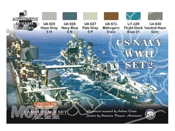 LIFECOLOR peinture CS25 BATEAUX US WWII SET 2