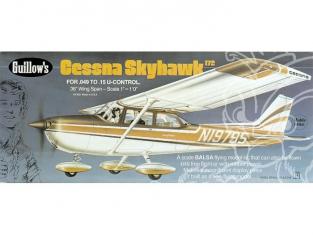 Maquette Guillow&39s avion bois 802 CESSNA 172 SKYHAWK 1/12