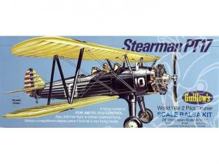 Maquette Guillow&39s avion bois 803 STEARMAN PT-17 1/16