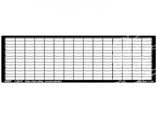 Aber S1200-07 Balustrades en chaine (2 barres horizontales) 1/200