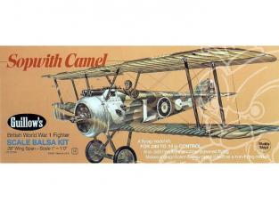 Maquette Guillow&39s avion bois 801 SOPWITCH CAMEL 1/12