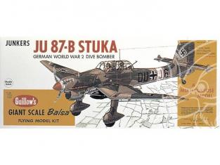 Maquette Guillow&39s avion bois 1002 Junkers STUKA JU-87B 1/16