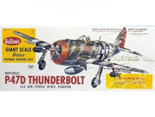 Maquette Guillow&39s avion bois 1001 P47-D THUNDERBOLT 1/16