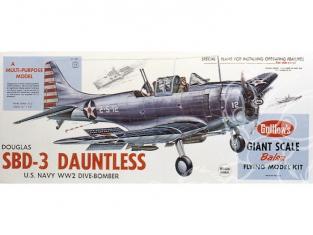 Maquette Guillow&39s avion bois 1003 Douglas SBD-3 Dauntless 1/16