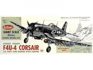 Maquette Guillow&39s avion bois 1004 Chance Vought F4U-4 Corsair 1/16