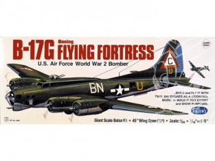 Maquette Guillow&39s avion bois 2002 Boeing B-17G Flying Fortress 1/28