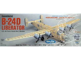 Maquette Guillow&39s avion bois 2003 Consolidated B-24D Liberator 1/28